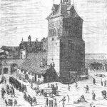 Gdańsk podczas epidemii dżumy w 1709 roku która pozbawiła życia 25 tys osób - Rycina Samuela Donneta
